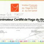 Certificat Animatrice Yoga du rire de Cécile FOREST