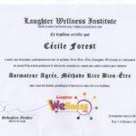 Diplome de Cécile FOREST, animatrice Rire Bien être